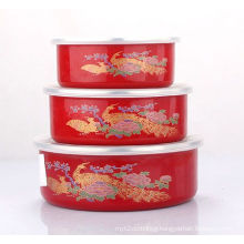 3PCS Enamel Storage Bowl Set (LFC1032ED)