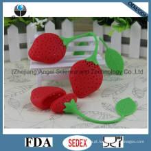 Ferramenta popular do chá do silicone da morango / filtro St03 do chá