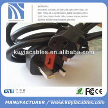 good price high quality UK specification PC power cable for computer 6ft