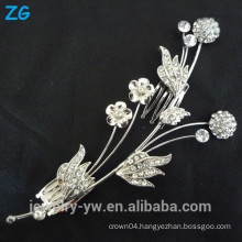 Fashion crystal hair combs wedding hair comb ladies hair jewelry comb flower hair clips