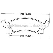 auto spare part D506 12510005 for Buick Chevrolet Pontiac Oldsmobile auto-boss brake pad