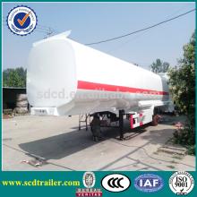 CIMC 45000L tri-axle fuel tanker truck trailer ,stainless steel boat trailer
