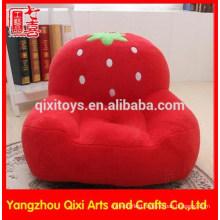 Wholesale high quality plush kids strawberry sofa