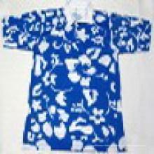 Яркая цветная полотняная рубашка с коротким рукавом Spandex