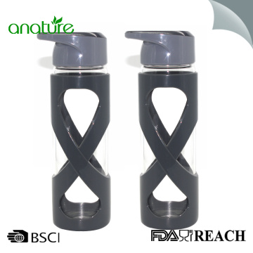 Manufacturer for for Tempered Glass Water Bottle 24oz Glass Water Bottle With Silicone Sleeve supply to Dominican Republic Exporter