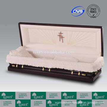 LUXES American Style Wooden Casket Senator Full Couch Casket Prices