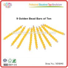 Montessori Material Spielzeug 9 Golden Bead Bars von Zehn