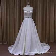 Beaded Sweetheart Stain Wedding Dresss 2016