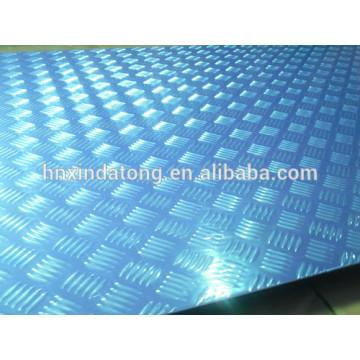 aluminium embossed plate for bus