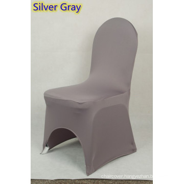 spandex chair covers,lycra chair cover fit all banquet chairs,high quality,silver grey