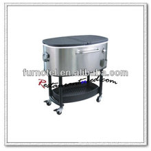 P253 80L Oval Outdoor Cooler Cart