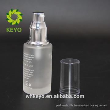 30ml frosted cosmetic glass pump bottle