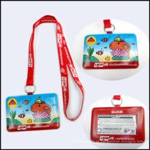 Sublimação em linha da tintura do poliéster / correia feita sob encomenda do logotipo da transferência térmica para crianças