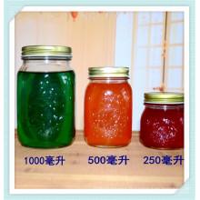 1000ml 500ml 250ml verre pot, pot de verre de miel, MSsur pot de confiture.