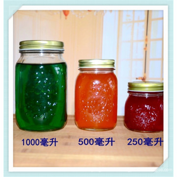 1000ml 500ml 250ml Glass Jam Jar, Honey Glass Jar, Mson Jar.