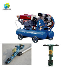 Mining Piston Air Compressor with Jack Hammer