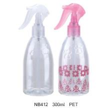 Botella redonda del rociador plástico del disparador para los cosméticos (NB412)