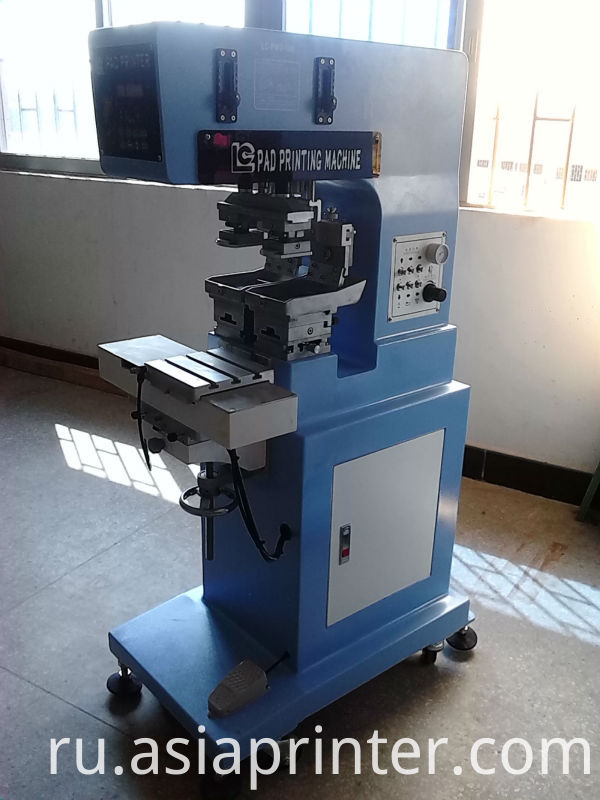two color ink well pad printing machine