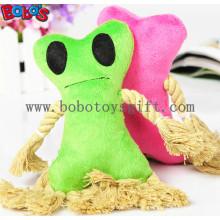 Plüsch Stuffed Pet Toy mit Baumwollseil und Squeaker in 2 Farben Bosw1073 / 16cm