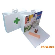 Steel Metal First Aid Box with Silkscreen Logo Printing (DFFB-024)