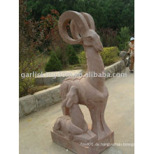 Lovely Schaf Mom & Baby Stone Carving