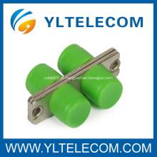 FC - adaptador cerâmico da fibra óptica da luva do APC, adaptadores do conector da fibra ótica