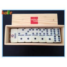 Domino avec boîte en bois
