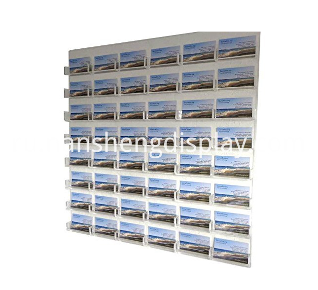 48-Pocket Wall Mount Business Card Holder