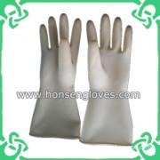 Hs-1080 White Rubber Industrial Gloves for Anti-Acid Alkali