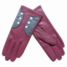 Lady Fashion Sheepskin Leather Dress Driving Gloves (YKY5070)