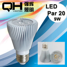 9W 100-277V Led Par iluminación Par20 Led Spotlight