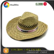 2015 Hot venda de algodão 6 painéis personalizados chapéus de palha promocionais por atacado MOQ 50