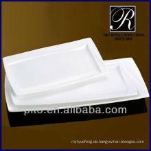 Küche Porzellan rechteckige Platte