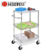 Removable Stainless Steel Room Service Trolley for Hotel