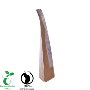 Bahan dilaminasi Kraft Paper Pouch Biodegradable Factory