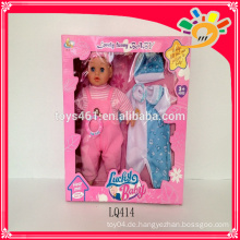 Neues reizendes lustiges Baby, 14 Zoll glückliche Babypuppe mit Puppekleidung
