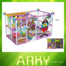 2015 enfants à l'intérieur nouvellement conçus jouent au chantier salle de gardiennage structure de jeu aire de jeux souple