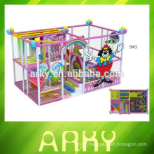 2015 newly designed indoor kids play castle nursery play structure soft playground