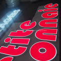 Price of Plastic Custom Signs LED Business Sign