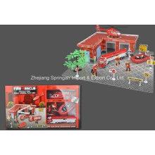Die Cast Metal Set de jeu de voiture Toy-F / W Firefighting Play Set Two