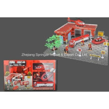 Die Cast Metal Car Play Set Toy-F/W Firefighting Play Set Two