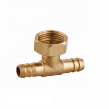 Manufacturer brass bathroom hardware accessories  tee pipe fitting