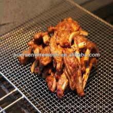 Grelha de arame de churrasqueira / malha de arame tecida (malha frisada)