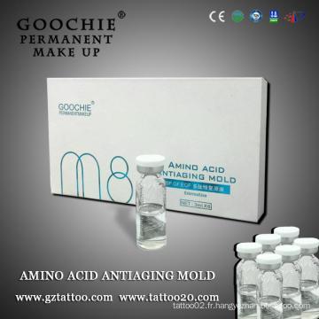 Liquide réparateur de cicatrices pour maquillage permanent