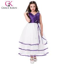 Grace Karin Cheap Sleeveless V-Neck Flower Girl Dress Baby Girl Party Dress CL008937-5
