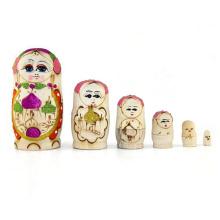 Muñeca de madera natural de la venta caliente
