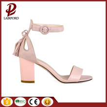 6cm chunky heel hot sale pink sandals