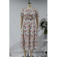 Vestido feminino idílico de manga curta