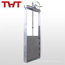 soupape à guillotine automatique en forme d'écluse en acier inoxydable