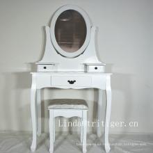 mesa de tocador de maquillaje con espejo de lujo en el centro del hogar de la cómoda para el dormitorio